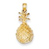 Pineapple Pendant 14k Gold Diamond-cut K4938