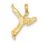 Girl Karate Charm 14k Gold K4961
