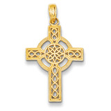 Celtic Cross Pendant 14k Gold Diamond-cut K5049