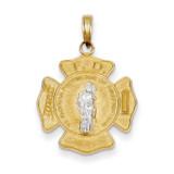 Saint Florian Medal Pendant 14k Two-Tone Gold K5083