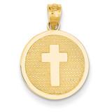 Reversible Cross & 1st Holy Communion Charm 14k Gold K5085
