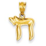 Chai Charm 14k Gold K5101