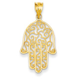 Filigree Hamsa Pendant 14k Gold K5102