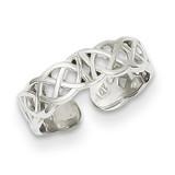 Polished with Design Toe Ring 14k White Gold K5104
