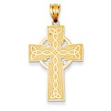 Irish Cross Pendant 14k Gold K5143