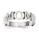 Mom Heart Ring 14k White Gold K647