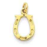 Horseshoe Charm 14k Gold Solid Polished K830