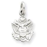 U.S. Army Insignia Charm 14k White Gold K899