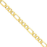 8.75mm Concave Open Figaro Link Chain 8 Inch 14k Gold LFG220-8