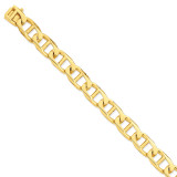 13mm Hand-Polished Anchor Link Chain 9 Inch 14k Gold LK103-9