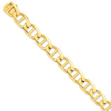 15mm Hand-Polished Anchor Link Chain 22 Inch 14k Gold LK104-22