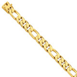 11mm Hand-polished Figaro Link Chain 9 Inch 14k Gold LK110-9