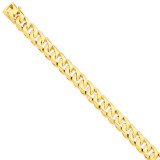 11mm Hand-polished Traditional Link Chain 8 Inch 14k Gold LK120-8
