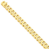 14mm Hand-Polished Traditional Link Chain 9 Inch 14k Gold LK121-9