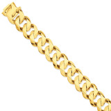 19mm Hand-polished Traditional Link Chain 8 Inch 14k Gold LK123-8