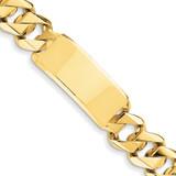 Hand-polished Traditional Heavy Link ID Bracelet 8.5 Inch 14k Gold LK123ID-8.5