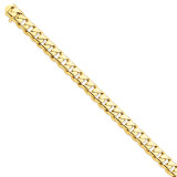 10mm Hand-polished Rounded Curb Chain 9 Inch 14k Gold LK126-9