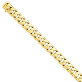 13mm Hand-polished Rounded Curb Chain 9 Inch 14k Gold LK128-9