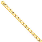 9.8mm Hand-polished Flat Beveled Curb Chain 9 Inch 14k Gold LK133-9