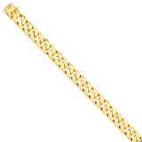 11.2mm Hand-polished Flat Beveled Curb Chain 8 Inch 14k Gold LK134-8