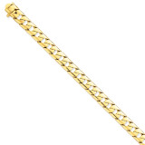10mm Hand-polished Fancy Link Chain 8 Inch 14k Gold LK141-8