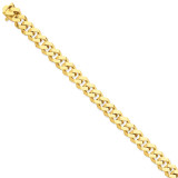 10mm Hand-polished Fancy Link Chain 9 Inch 14k Gold LK158-9