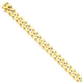 12mm Hand-polished Fancy Link Chain 9 Inch 14k Gold LK159-9