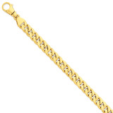10.1mm Polished Fancy Link Bracelet 8.5 Inch 14k Gold LK386-8.5