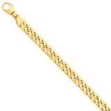 10.1mm Polished Fancy Link Bracelet 9 Inch 14k Gold LK386-9