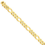 11.8mm Polished Fancy Link Bracelet 8.5 Inch 14k Gold LK465-8.5