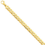 10.75mm Polished Fancy Link Bracelet 8.5 Inch 14k Gold LK469-8.5