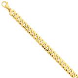 10.75mm Polished Fancy Link Bracelet 9 Inch 14k Gold LK469-9