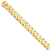 15.4mm Polished Fancy Link Bracelet 9 Inch 14k Gold LK471-9