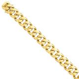 16.15mm Polished Fancy Link Bracelet 9 Inch 14k Gold LK472-9