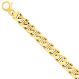 16.0mm Polished Fancy Link Bracelet 8.5 Inch 14k Gold LK503-8.5