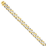 11.35mm Polished Fancy Link Bracelet 8.5 Inch 14k Two-Tone Gold LK520-8.5
