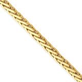 4.6mm Flat-Edged Woven Link Fancy Bracelet 20 Inch 14k Gold LK754-20