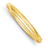 3/16 Laser Cut Hinged Bangle Bracelet 14k Gold LZ3/16