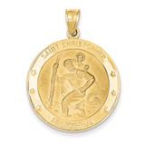 Saint Christopher Medal Pendant 14k Gold M1487