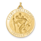 Saint Christopher Medal Pendant 14k Gold M1488