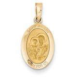 Saint Joseph Medal Charm 14k Gold M1501