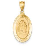 Saint Joseph Medal Pendant 14k Gold M1502