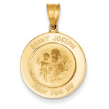 Saint Joseph Medal Pendant 14k Gold M1506