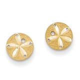Sand Dollar Post Earrings 14k Gold Diamond-cut M1592