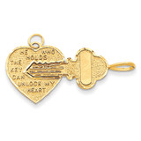 Break-Apart Heart Charm 14k Gold M198