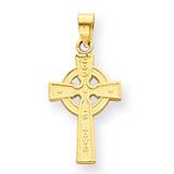Reversible Celtic Cross Pendant 14k Gold M2543