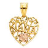 Nana Heart Pendant 14k Two-Tone Gold M2692