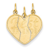 3 piece Break-apart Friend Charm 14k Gold M284