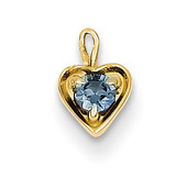 June Synthetic Birthstone Heart Charm 14k Gold M349