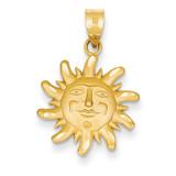 Small Sun Charm 14k Gold Diamond-cut M471